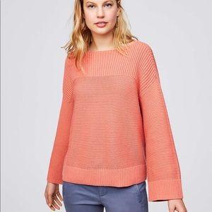 Loft Ribbed Boat Neck Sweater